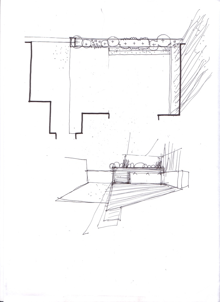 Esquema de zonificaci n para jard n en tico dibujos for Croquis jardin