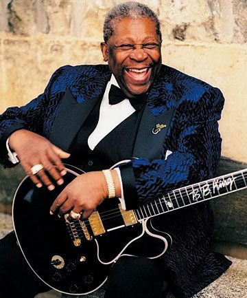 Blues King - BB King.  My absolute, all-time favorite blues man.  So glad that I got to see him perform live.  What a guy, and he still sounds great!  Love you, B !!!  L.S.