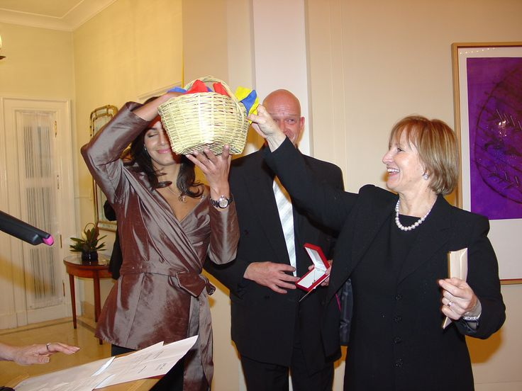 Co-Sponsor of the Fashion Show in the U.S. Embassy in Bogota with Miss Colombia Valerie Domínguez 2006 With My wife Nubia and the Winner of the Pendant Raffled by Specialist in Fine Colombian Emeralds. and the U.S. Ambassador William Brownsfield, Sra. Dayla Parry wife of David Parry president of Nexen Petroleum
