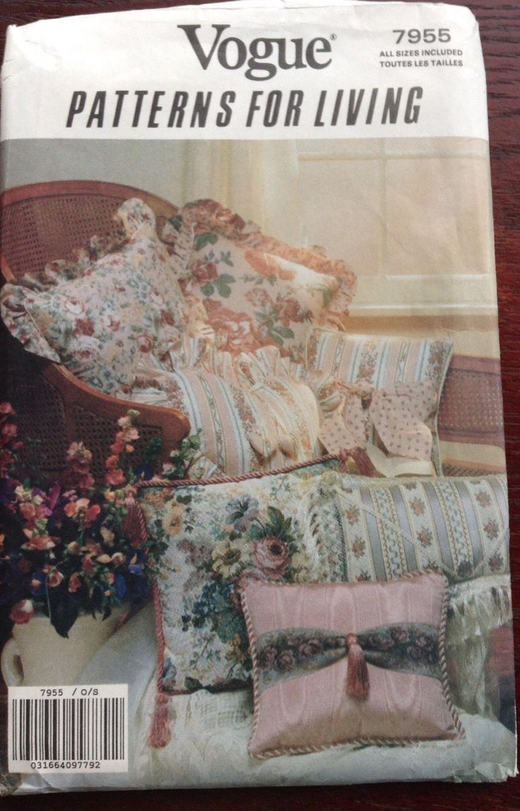 Home Decor pillows and cushions Vogue pattern by Followlight on Etsy