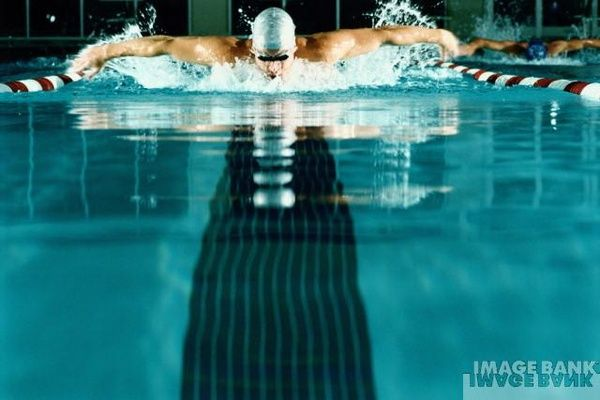 It may not be the most attractive thing, but this will be one of my senior pictures. Swim