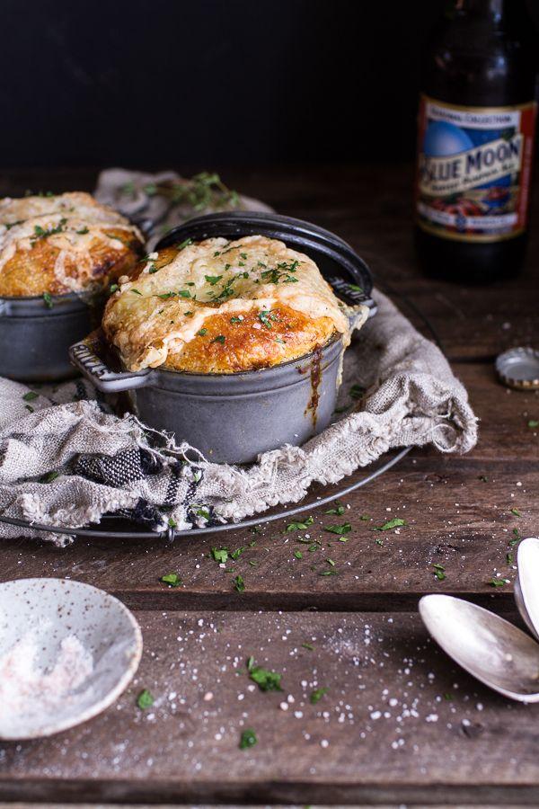 Butternut Squash and Beefy Mushroom Pot Pies with Flakey Taleggio Crust | Half Baked Harvest