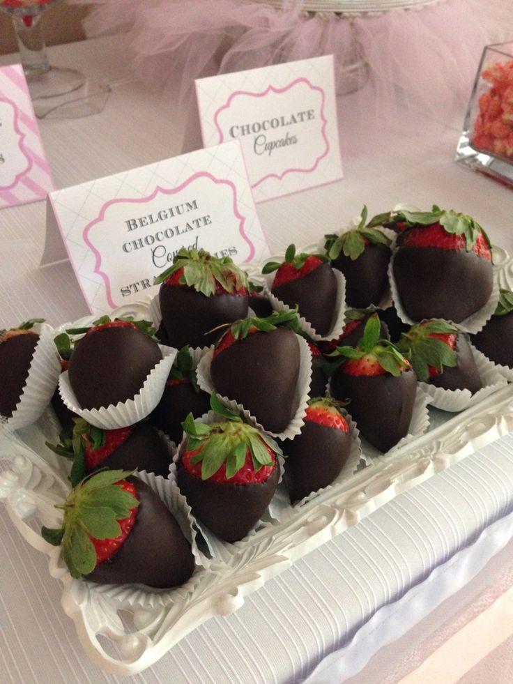 Strawberries dipped in Belgium chocolate