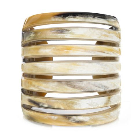 Buffalo Horn Cuff with Cut Lines Main Image