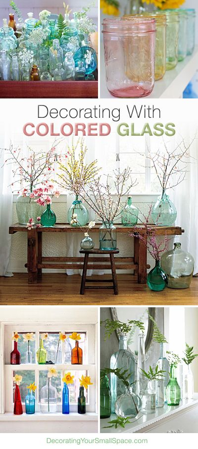 Bring Spring and Summer into Your home! DIY Decorating with Colored Glass • Tips, ideas and Tutorials !
