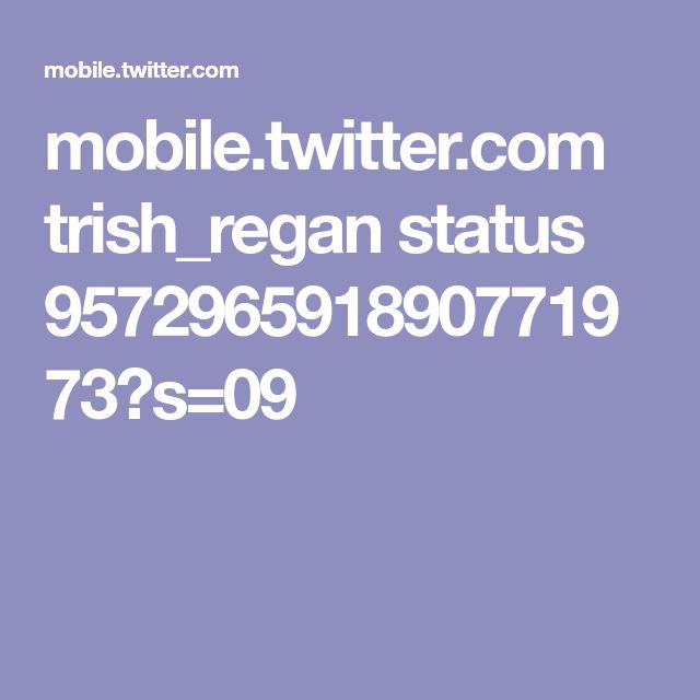 mobile.twitter.com trish_regan status 957296591890771973?s=09