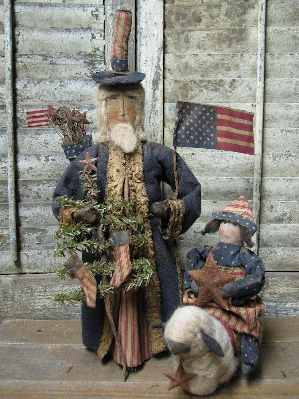 1897 House Primitives...Uncle Sam & friends