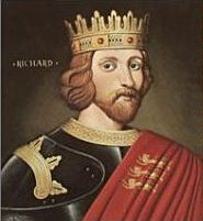 Richard I (1157 - 1199). Called Richard the Lionheart. King from 1189 - 1199. He was named Duke of Aquitaine by his mother before his father died and made him King of England.  He participated in the crusades. An assassin shot an arrow near his neck and he died from his wound days later.