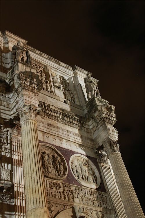 Detail of the Arch of Constantine - Rome, Lazio, Italy May 9th - Study Abroad