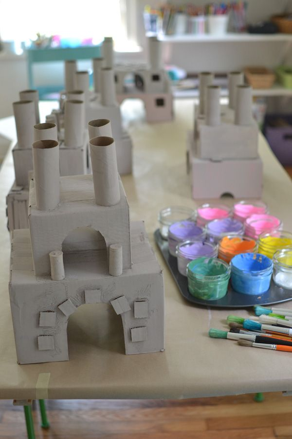Medieval Curriculum: Castle Sculptures from recycled materials