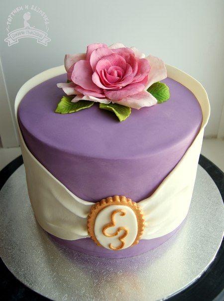 Roses cake, fondant rose
