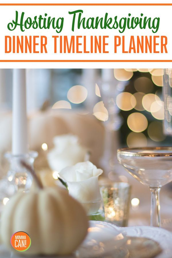 Need Help with your Thanksgiving Dinner Timeline? Momma Can
