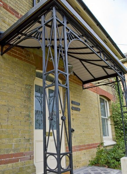Art Deco Ironwork Porch Facade In 2018 Pinterest Columns And Wrought Iron