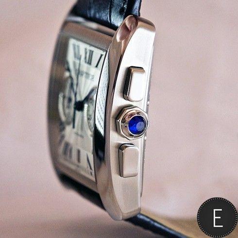 Cartier Tank MC Chronograph in steel
