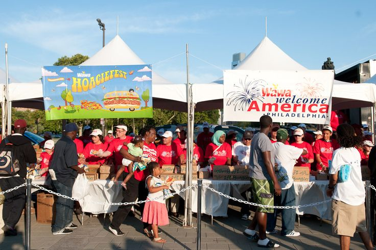 Wawa will once again provide free hoagies to all visitors in front of the Independence Visitor Center during the 23rd annual Wawa Hoagie Day. (Photo courtesy Wawa Welcome America!)
