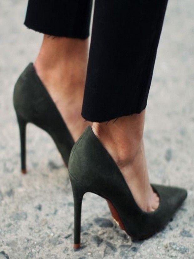 suede shoes: 15 Suede Heels for Every Budget via @WhoWhatWear