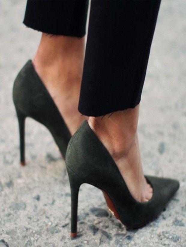 Luxe suede heels