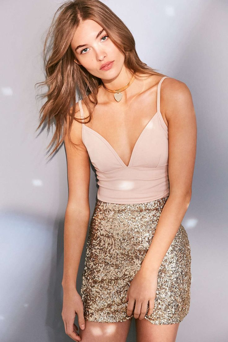 Cooperative Cassie Sequin Mini Skirt - Urban Outfitters