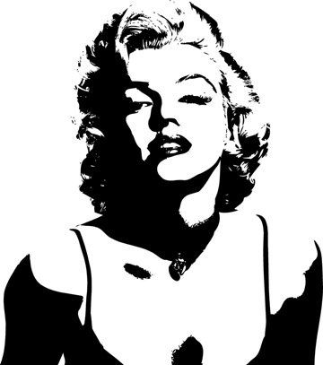 Marilyn Monroe Face Silhouette Tattoo Marilyn monroe silhouette