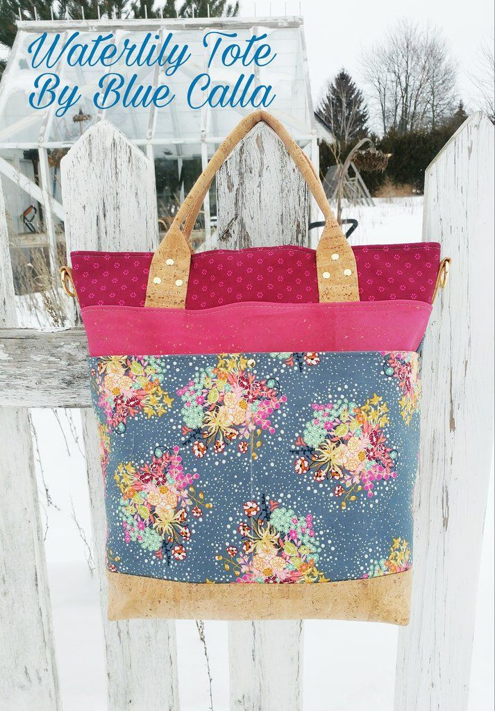 The Waterlily Waxed Canvas Tote Pdf Sewing Pattern Purse Patterns By Designer Pinterest And