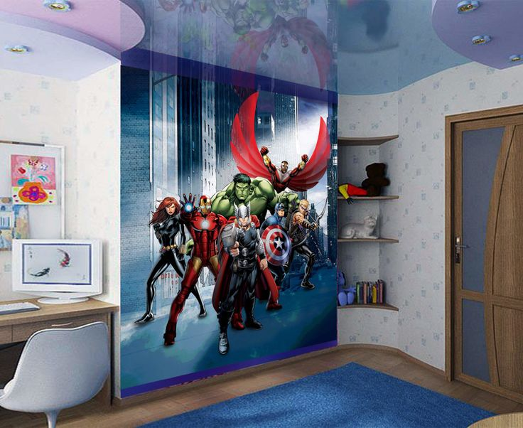 Delightful Off Huge Superheroes Wall Decal Boys Wall By ItCdesigns Part 32