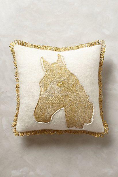 Animal Applique Pillow #anthropologie
