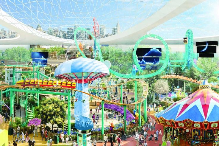 The U.S.'s largest mall, proposed in Miami, would include an indoor-outdoor amusement park amid a...