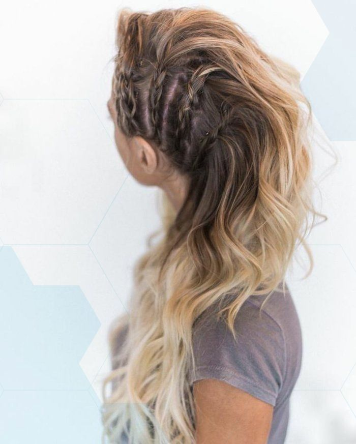 Großartig Erstaunlich vikings-lagertha-hairstyle-with-braids-on-the-side-shaved-effect-blond-hair -…, #Hair #hairstyle #effect #erstaunlich