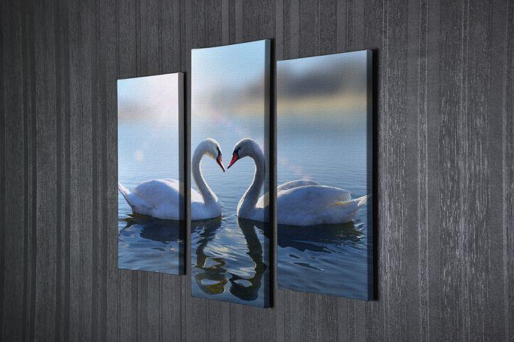 Модульная картина лебеди | Магазин модульных картин