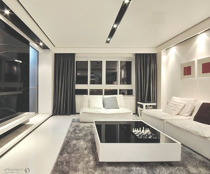 White And Black Modern Living Room Furniture Ideas Antique