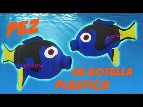 Cómo hacer un móvil con peces de botellas de plástico - Fish mobile out of recycled plastic bottles - YouTube