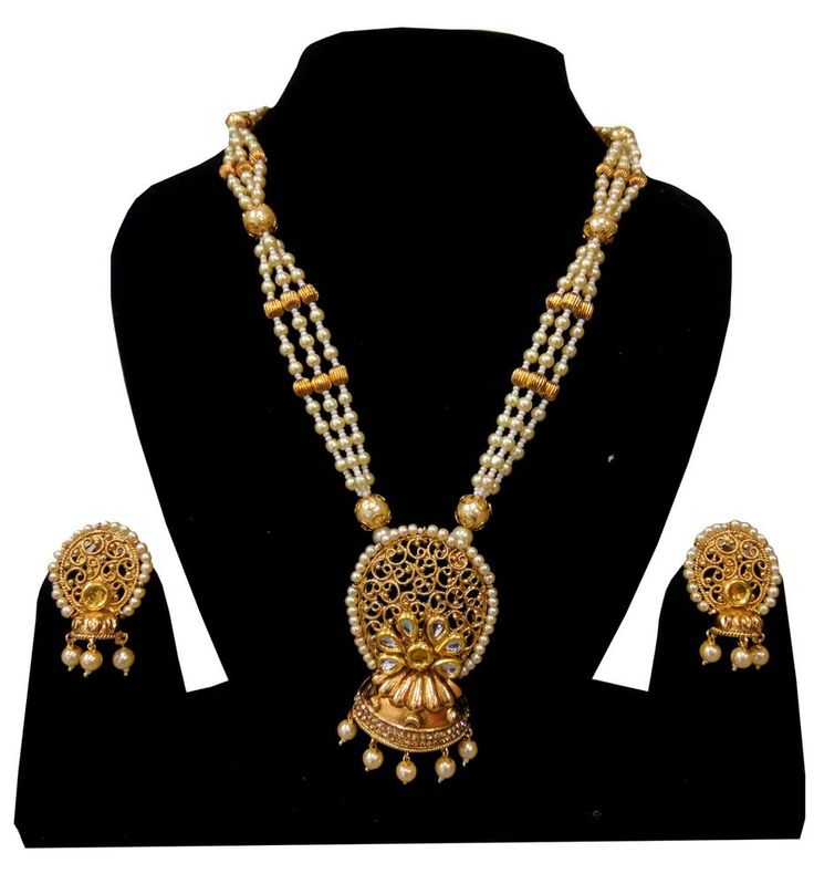 Wedding Indian Fashion Jewelry Bridal Necklace Pendant Set Earring Gold Plated #Handmade