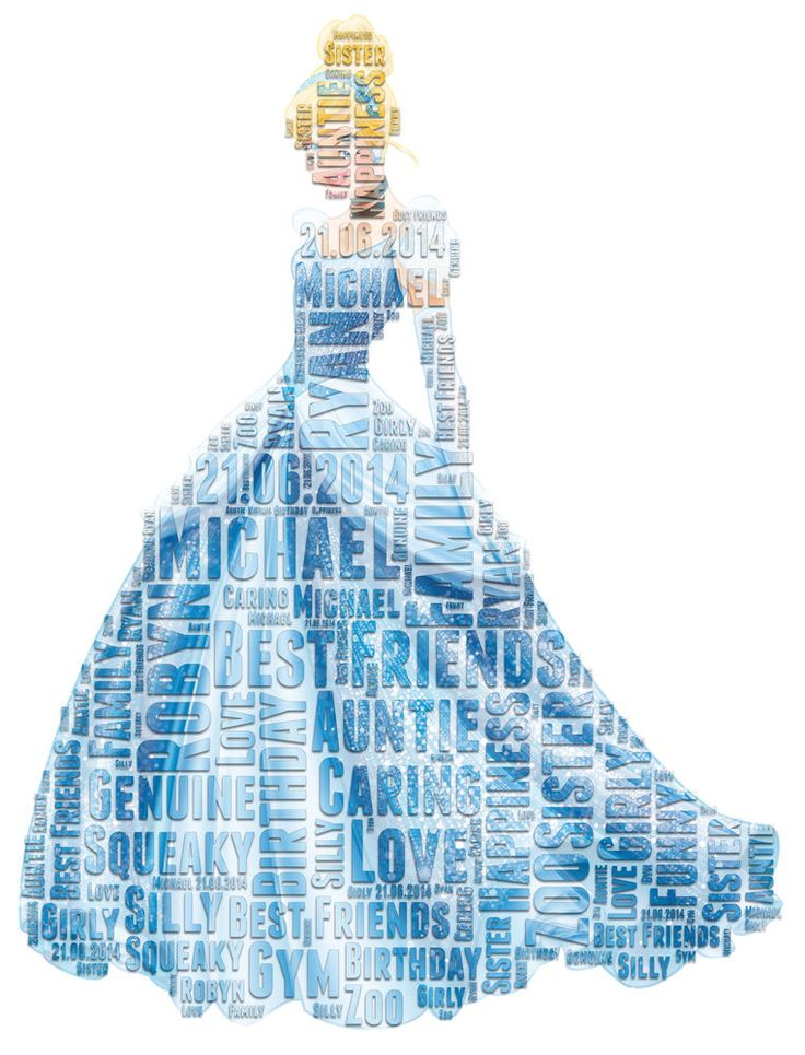 Personalised Birthday Cinderella Disney Marvel word art Gift