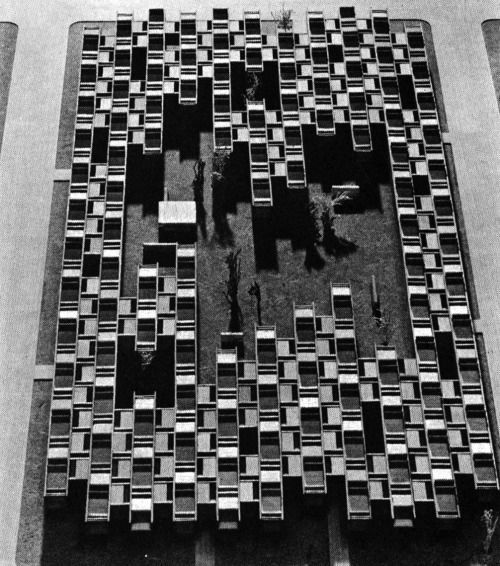 SACHIO OTANI, KOJIMACHI PROJECT FOR HIGH DENSITY COURTYARD DWELLINGS, 1961