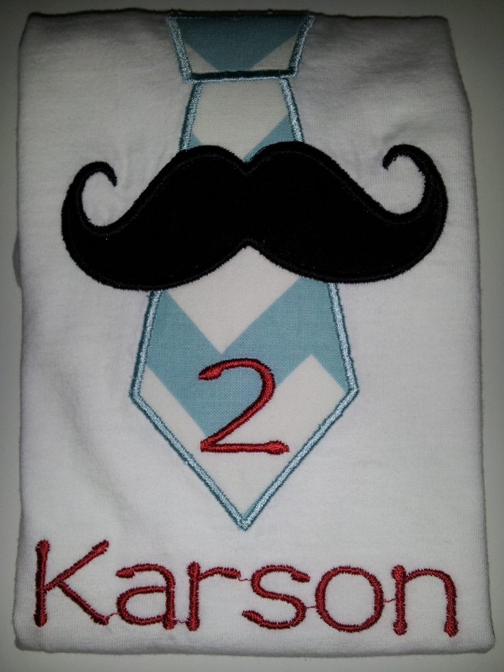 Personalized Tie Mustache 1st Birthday Onesie or by babymodern, $20.00