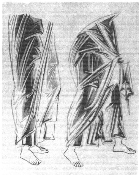 Drapés vêtements