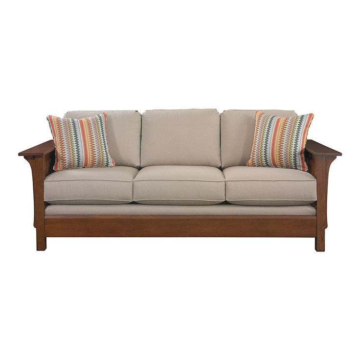 Craftsman style sofa 63 best craftsman style sofas images for Pinterest sofa