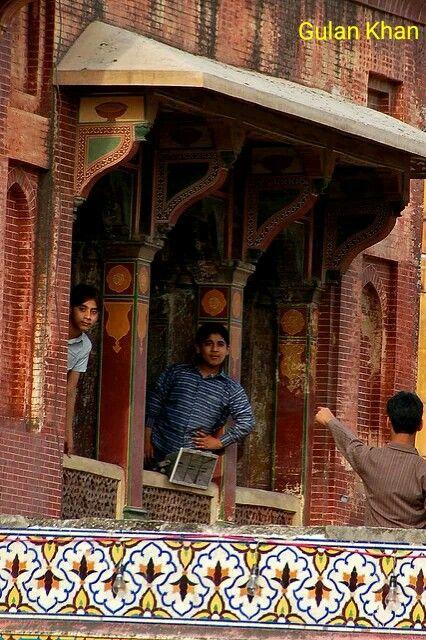 Beauty of the Wazir Khan Mosque Lahore Punjab Pakistan