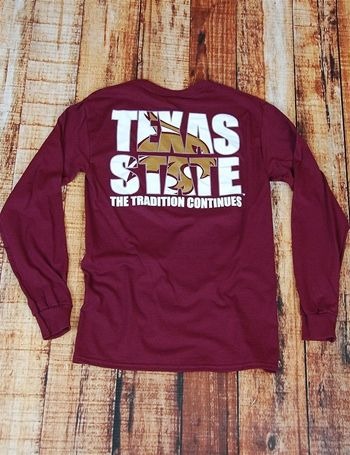 TX State Traditions LS - MAROON at Barefoot Campus