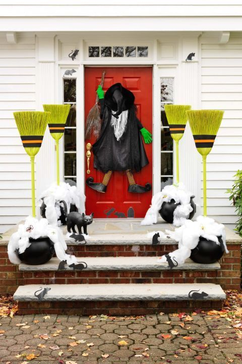 Over 17 Super Fun Halloween Themed Front Door and Porch Ideas