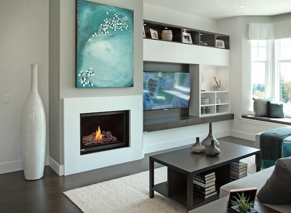 25 best modern fireplaces ideas on pinterest modern - Modern fireplace living room design ...
