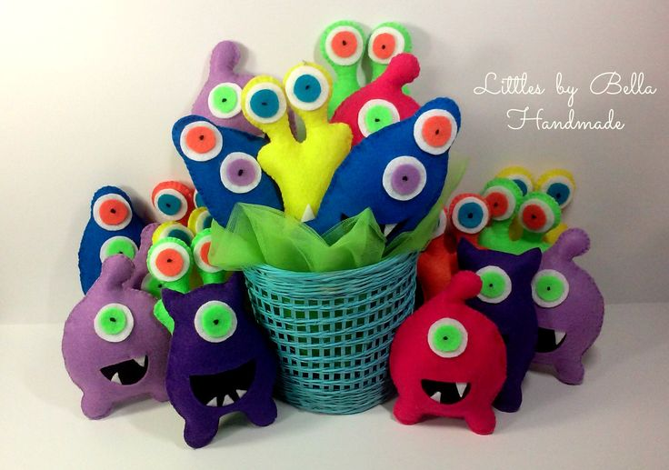 #Adoptamonster #partycute #monsters #monstertheme Little #MonsterPartyFavors #partysupplies #Plush #alien #childfriendly giftforkids #turbofastparty