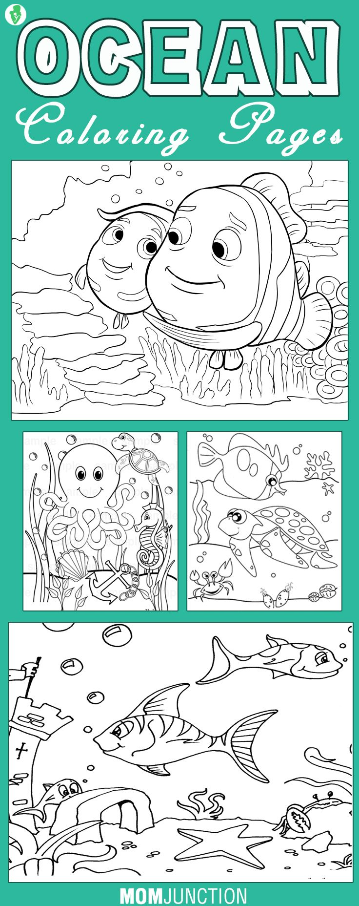 0cean coloring pages - 10 Best Ocean Coloring Pages For Your Little Ones