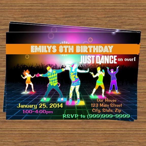 Just Dance Party Invitation Top Party Themes Pinterest