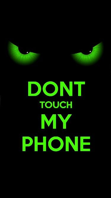 Dont Touch My Tablet Wallpaper