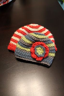baby ripple crochet hat free pattern
