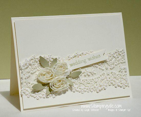 Stampin+Up+Wedding+Card+Ideas | Elegant wedding card with lace #cardmaking #rubberstamping #StampinUp ...