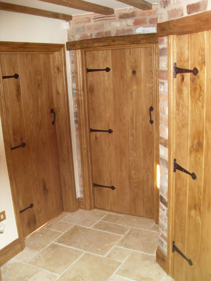 Oak Internal Doors in barn conversion. Beautiful doors for a beautiful property, all made bespoke by Heritage.