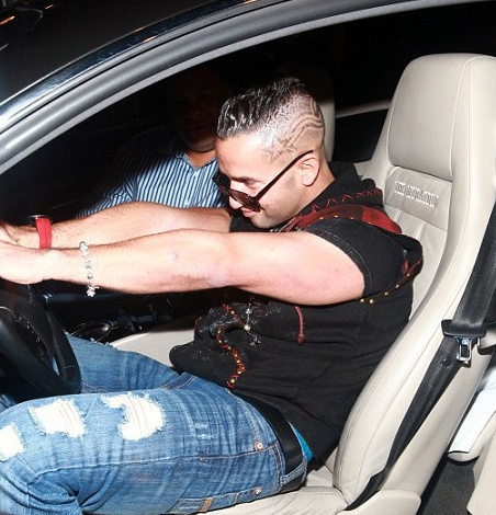 Jersey Shore's The Situation soaking in the feeling of his new Bentley