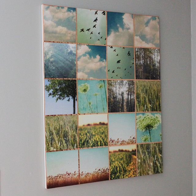 canvas + photos and mod podge